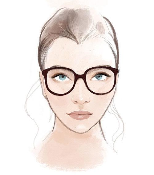 Briller til hjerteformet ansikt